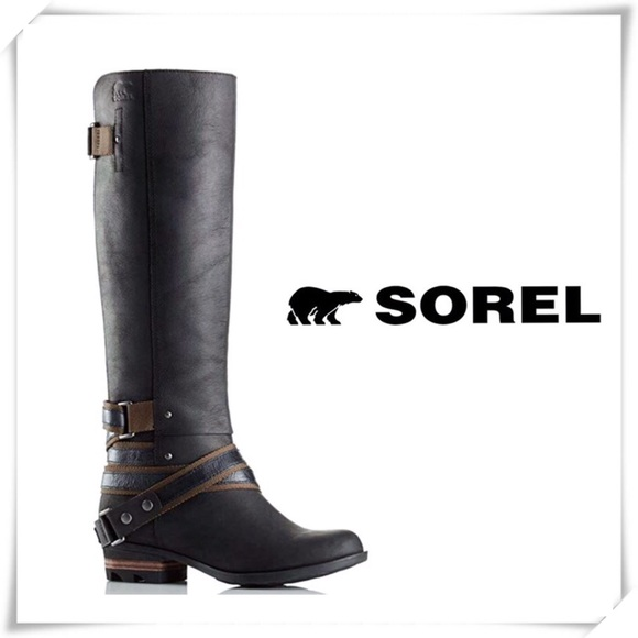 Sorel Shoes - NWT Sorel Lolla Waterproof Leather Tall Boot Black